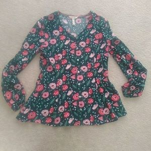 NEW Matilda Jane Floral Print Rayon Sz Small Top